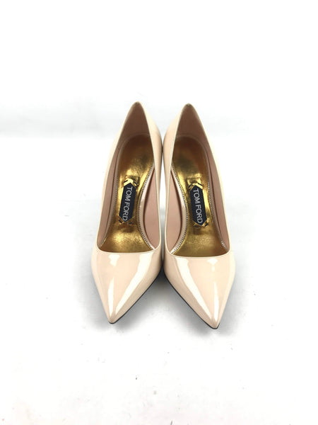 Nude Patent Leather Classic Pumps -SALE PENDING