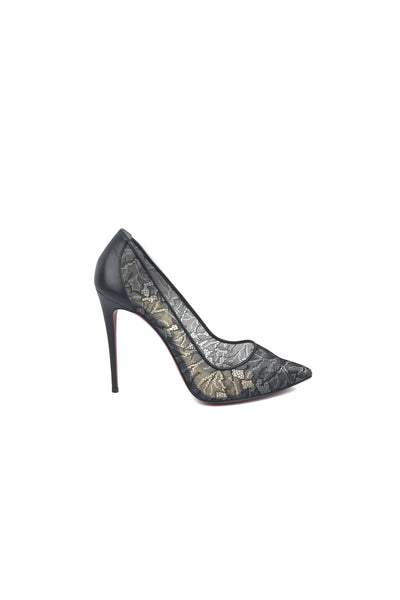 Black Follies Lace 100 Pumps - Haute Classics