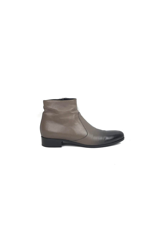Brown Leather Ombre Ankle Boots W/ SHW
