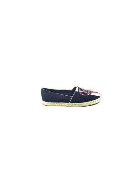 Dark Blue Denim Logo Espadrilles