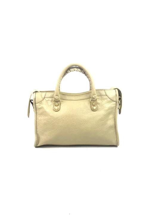 Beige Lambskin Mini City Bag W/ GHW - Haute Classics