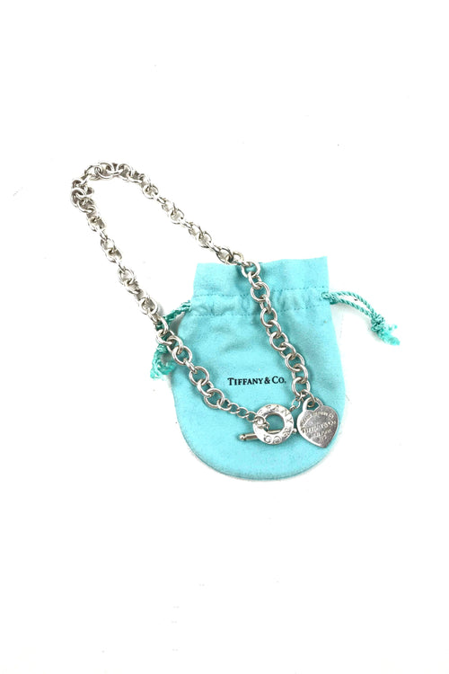 Return To Tiffany Heart Tag Toggle Necklace