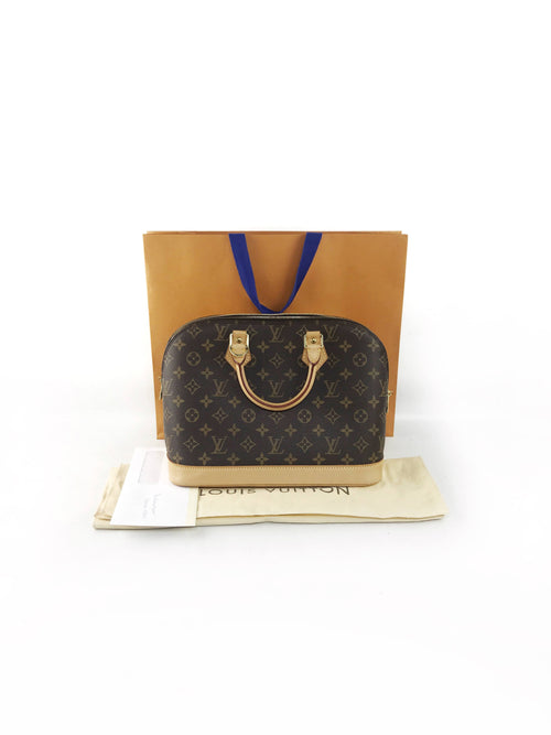 Monogram Coated Canvas Alma PM W/GHW