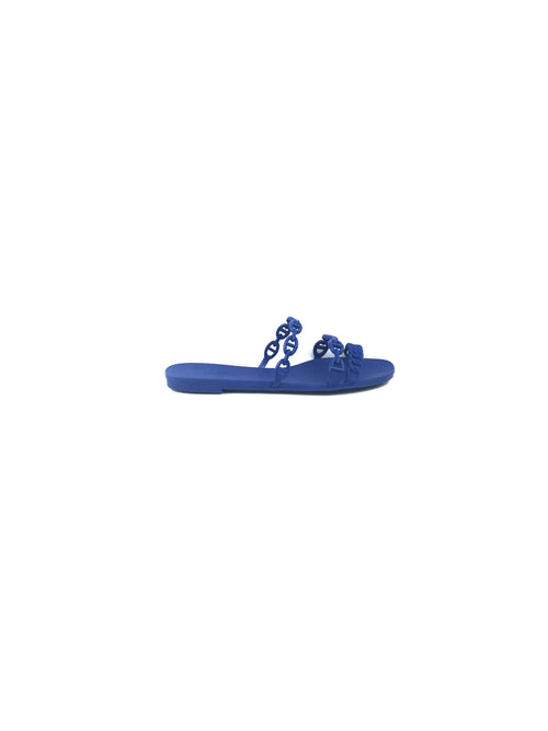 Cobalt Blue Rubber Chaine D'Ancre Sandals