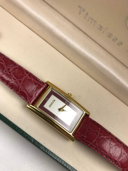 Red Ayers 2600L Watch W/ GHW  total length 8""