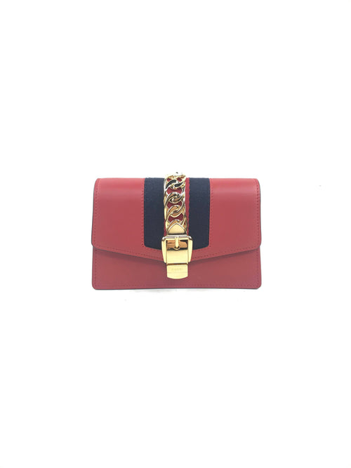 Red Super Mini Sylvie Bag W/GHW