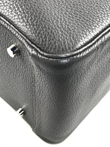 Lindy 34 Graphite/Etoupe Clemence Leather W/PHW