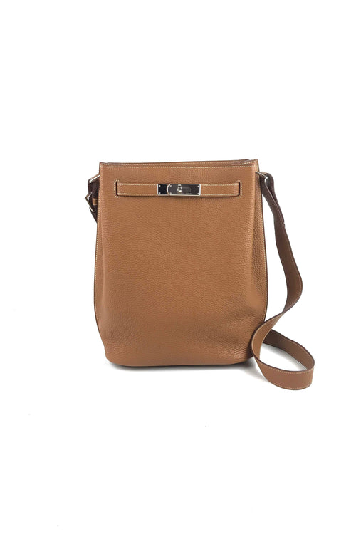 Gold Clemence So Kelly 22 Bag W/ PHW