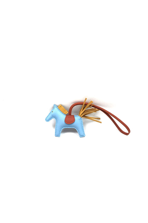 Light Blue/Orange/Beige Tri-Colour Rodeo Charm PM