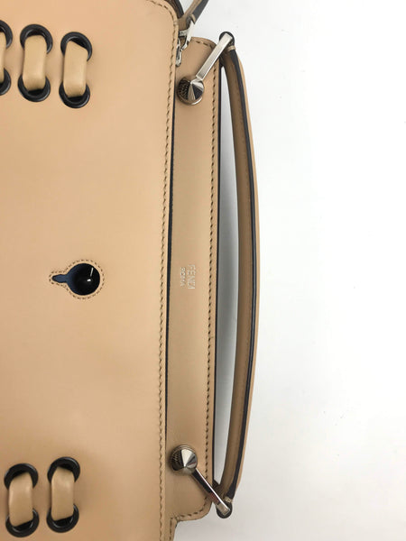 Cuoio/Ceruleo Smooth Leather Dot.Com Satchel Bag
