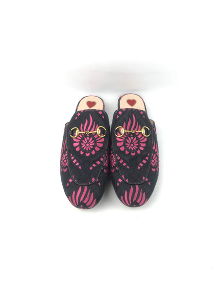 Candy Flower Jacquard Princetown Slippers