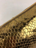 Metallic Gold Snakeskin Whips Pietre Chain Clutch