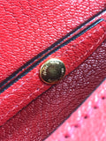 Red Madras Jeweled Miu Lady Crossbody Bag