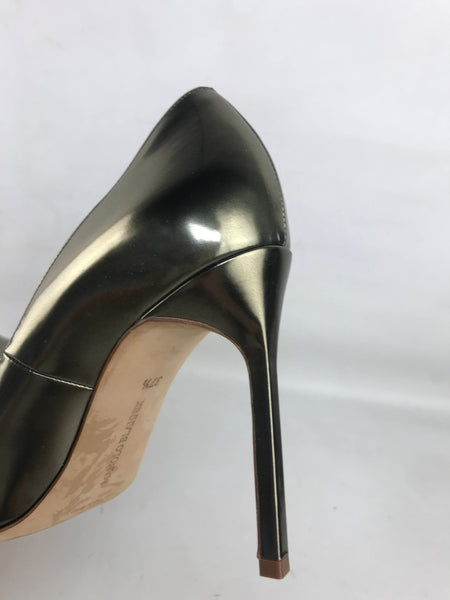 Pick Bronze Metallic BB Patent Leather Pointed Toe Heels