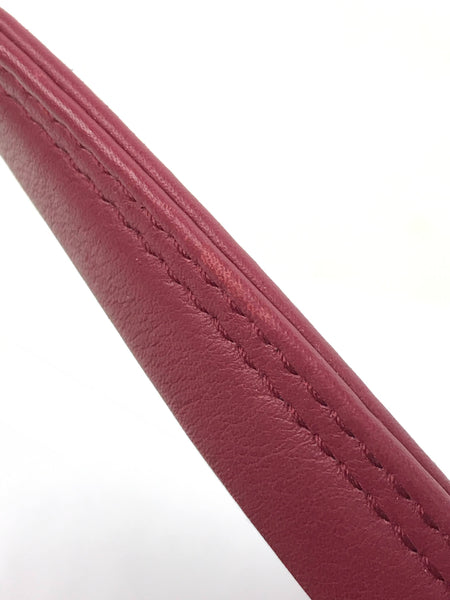 Burgundy Triangle Duffle XS Chain Shoulder Bag W/SHW