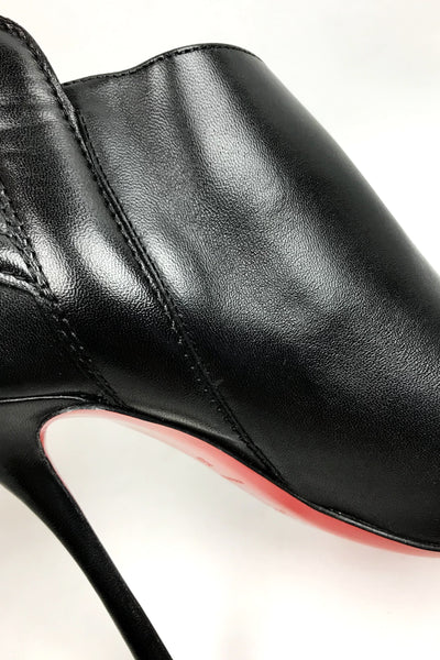 Mercura 100 Nappa Shiny Black Ankle Bootie
