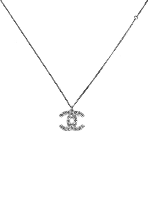 Crystal CC Logo Necklace
