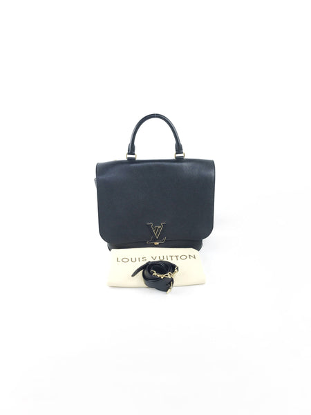 Black Taurillon Leather Volta Bag W/GHW