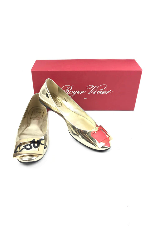 Gold Love Collection Gommette Ballerina Flats