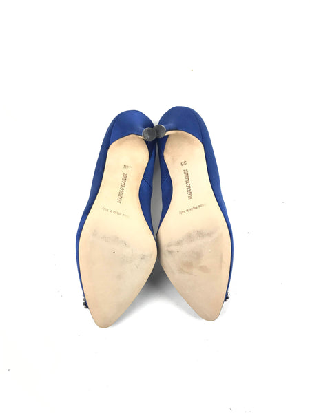 Blue Royal Satin Hangisi Pumps