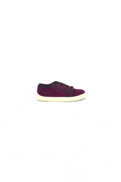 Purple Velvet Low-Top Sneakers