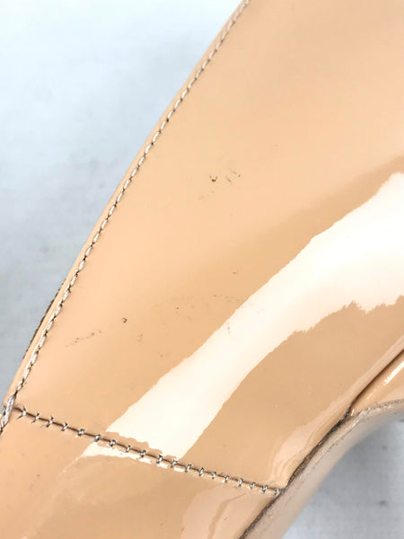Nude Patent Leather Tribtoo Double Platform Pumps