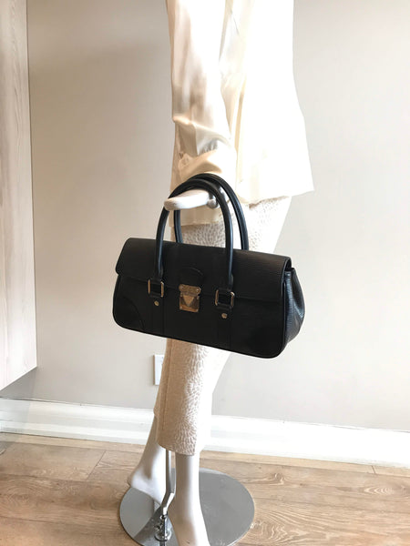 Black Epi Leather Segur PM Bag