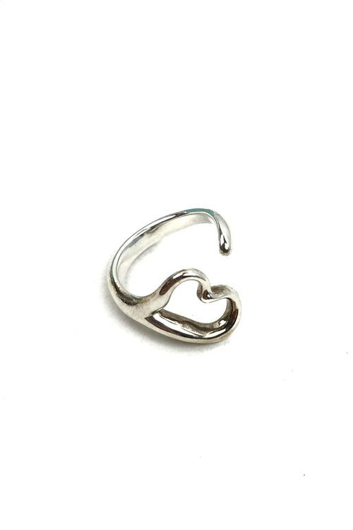 Elsa Perreti Heart Sterling Silver Ring
