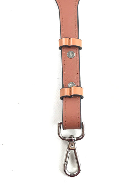 Brown Two-Tone Smooth Leather Shoulder Strap W/SHW