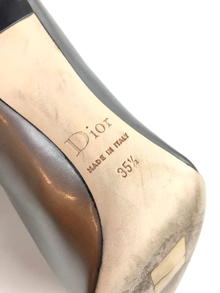 Metallic Silver Pointed Toe Pumps