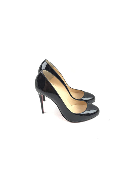 Dorissima 100 Black Patent Leather Pumps