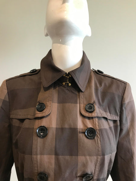Brown Check Eastcourt Trench Coat