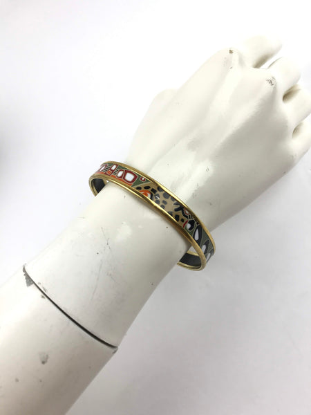 Multicolour Thin Enamel Bangle GM W/ GHW