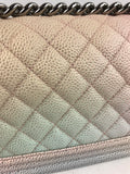 Rainbow Caviar Quilted Boy Small Bag W/SHW
