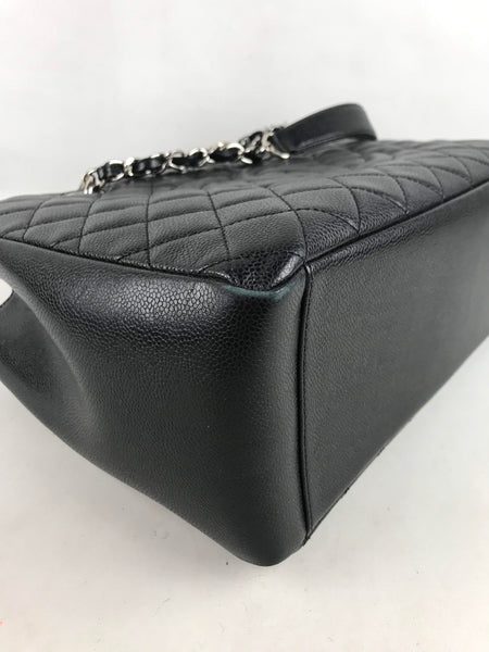 Chanel Black Caviar Quilted GST W/SHW