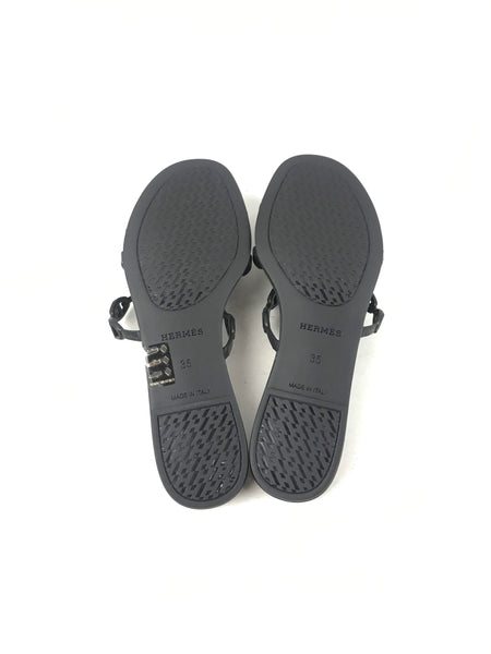 Black Rubber Chaine D'Ancre Sandals