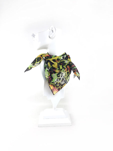Tropical Floral Silk Scarf
