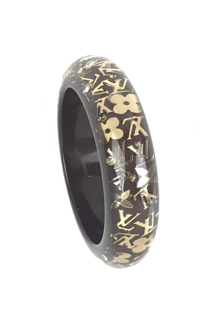 Gold Swift Calfskin Rivale Double-Tour Bracelet W/ GHW