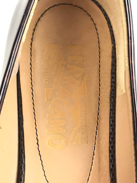 Tortoise Shell Patent Leather/Brown Lizard Leather Vera Flats