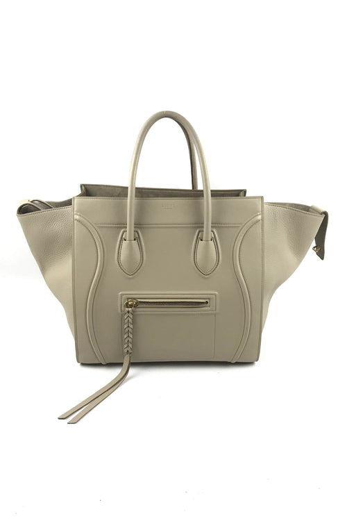 Taupe Smooth Grained Leather Phantom Bag W/ GHW