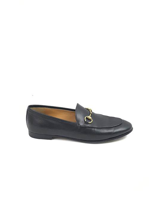 Black Leather Jordaan Loafers W/ GHW - Haute Classics