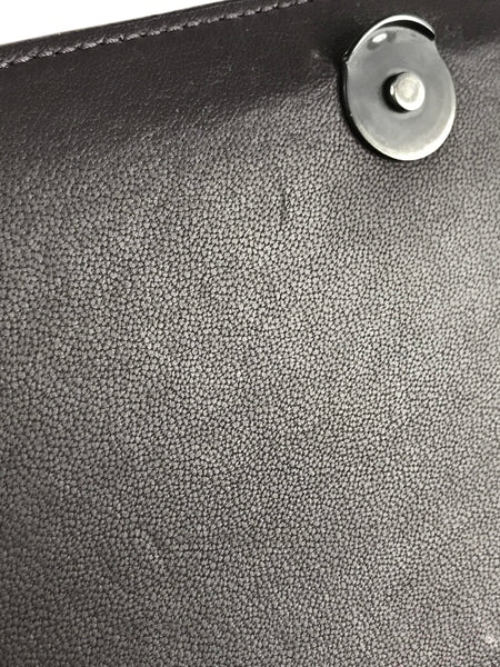Ebano Intrecciato Nappa Leather Alumna Bag