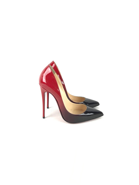 Black/Red Ombre Patent Leather So Kate 120 mm Pumps
