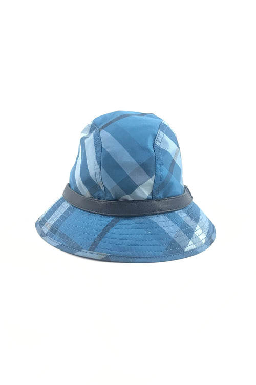 Blue House Check Bucket Hat