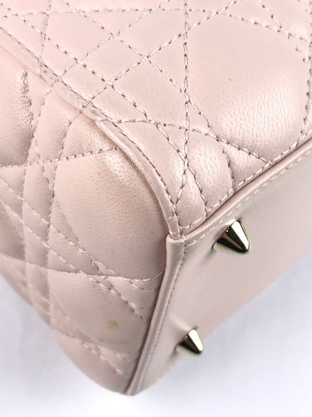 Lady Dior Light Pink Cannage Medium Bag W/LGHW