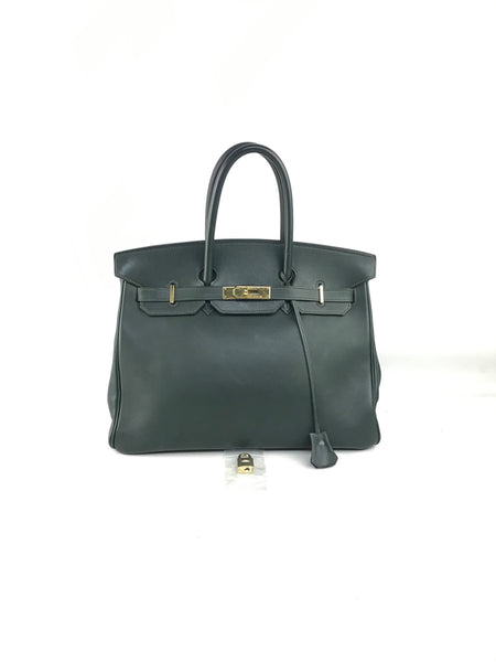 English Green Swift Birkin 35 W/GHW