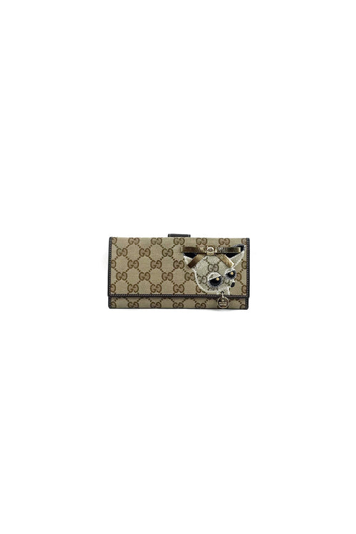 GG Canvas Zoo Long Continental Wallet
