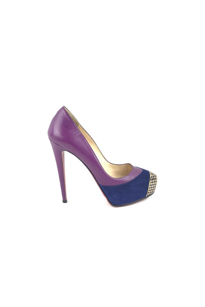 Purple/Navy W/ Gold Mesh Embellishment Bianca Pumps