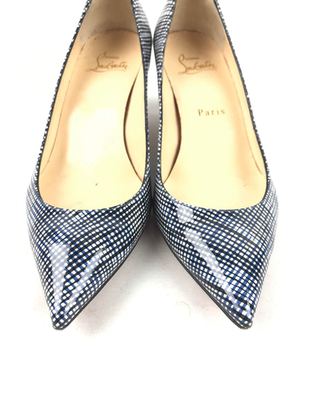 Navy/Black Patent Leather Pigalle Follies 55 Pumps