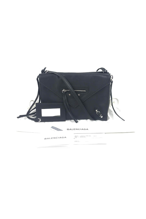 Black Calfskin Papier Triple XS Zip Around Bag W/ SHW